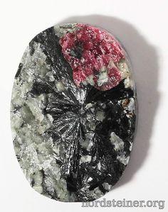 Aegirine & eudialyte insert 32*23*7 mm #insert #gems #nordsteiner #Aegirine @ nordsteiner.org