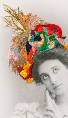 ♒ Enchanting Embroidery ♒ embroidered collage - 'De Fil en Aiguilles' by Camille Lequien.