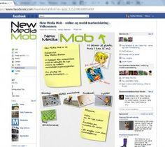 b2ad2b68b413d Facebook side med facebook tab app. velkomstside