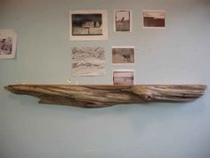 Drift wood used for the mantle? LOVE this idea!