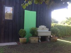 First experience using Annie Sloan 'Antibes Green' now need to dark wax shutters.
