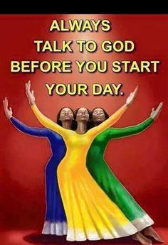 ALWAYS TALK FIRST WITH GOD
