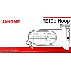 "Janome RE10B 1.5"" x 5.5"" Embroidery Hoop fits MC500E and MC400E"