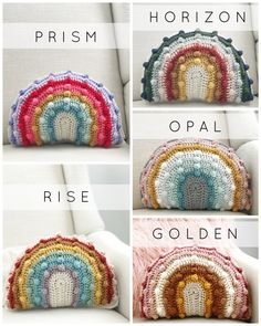 Juni Bobble Rainbow Blanket – Mama Made Minis Crochet Home, Love Crochet, Crochet Crafts, Yarn Crafts, Knit Crochet, Crochet Cushions, Crochet Pillow, Crochet Stitches, Crochet Patterns