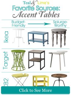8 of My Favorite Places to Shop for Affordable Accent Tables   tealandlime.com