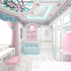 Photo in 5868 Furniture Design-- - Googl. Baby Bedroom, Home Bedroom, Girls Bedroom, Bedroom Themes, Bedroom Decor, Dream Rooms, Dream Bedroom, Fairytale Bedroom, Little Girl Rooms