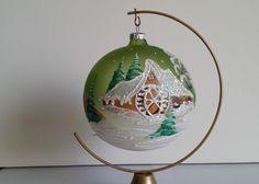 Boule DE Noël EN Verre Peinte À LA Main Pologne | eBay