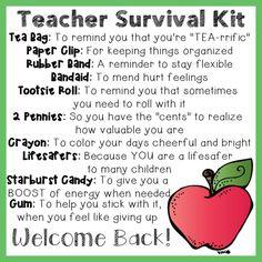 teacher survival kit                                                                                                                                                     More