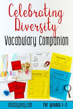 Teaching vocabulary in elementary school can be highly engaging! Click the pin the check out these vocabulary activities that teach vocabulary using mentor texts that celebrate diversity.