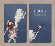 Clint Reid Business Card  Awesome illustration