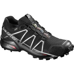 Salomon - Speedcross 4 GTX Trail Running Shoe - Men's - Black/Black/Silver Metallic-x