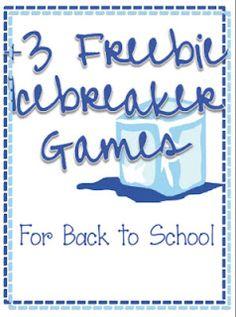 3 free icebreaker games from One Less Headache: Friday Freebies!! http://onelessheadache.blogspot.com/2012/08/friday-freebies.html# #freebie #icebreakers #BackToSchool