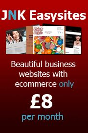 A complete website with drag and drop editing, hosting and domain name for only £8 a month with JNK Easysites.  www.jnkwebdesign.co.uk
