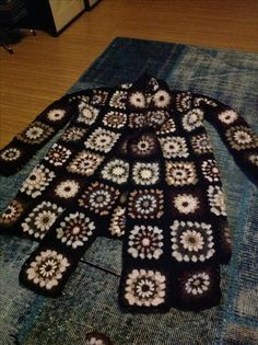 Granny square cardigan, PATCHWORK square cardigan, granny vest, hand made, crochet,
