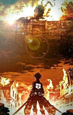 Shingeki no Kyojin phone wallpaper with some edits :)