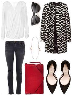 Outfit / zebra coat