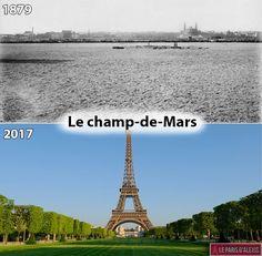 Le Champs-de-Mars en 1879 et en 2017. Plus de visuels sur LeParisdAlexis.fr