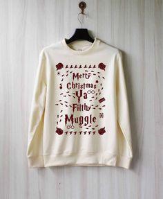 b341e3047 Merry Christmas Ya Filthy Muggle Harry Potter Shirt Sweatshirt Sweater Shirt  – Size XS S M L XL