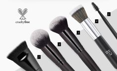 Elf brushes - great quality and $4-6 each! 1 - contour brush $6 2 - selfie ready foundation brush $6 3 - selfie ready powder brush $6 4 - beautifully bare stipple brush $4 5 - eyebrow duo brush $3 Don't forget to check out Ebates - for 15% cash back...