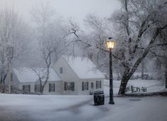 Colonial Williamsburg - it's snowing today, January 21, 2014 - this is what it looks like - it's beautiful at dusk!