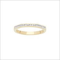 On trend angular sparkle ring, gold
