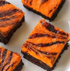 Scream Cheese Halloween Brownies are a tasty, bright orange treat if you're in search of Halloween party food.