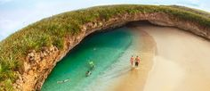 "The Marietas Islands are home to one of the most unique and beautiful beaches in the world. Known as the ""Hidden Beach..."""