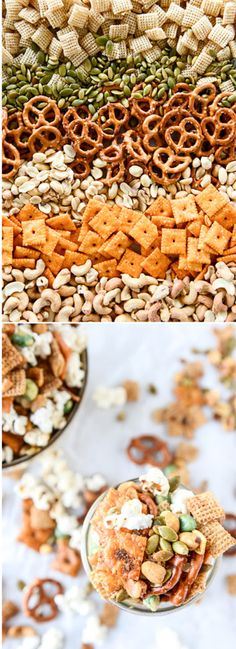 The most addicting homemade snack mix - made with bacon fat popcorn!! I howsweeteats.com