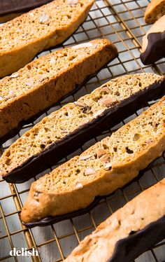 Our Perfect Biscotti Is The Best Excuse To Eat Cookies For BreakfastDelish Italian Cookie Recipes, Italian Cookies, Baking Recipes, Dessert Recipes, Italian Desserts, Baking Ideas, Dessert Ideas, Delicious Desserts, Biscotti Cookies