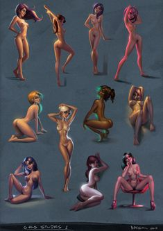 """pinuparena:  """"A few weeks ago I decided to start a routine of everyday studies inspired by the work of Johannes Helgeson. I focused more on lighting, color temperature and how it works on the female nude skin. In the end I started to undestand how to work better with grayish tones as well. Its quite fun, I really liked! It's something you can do one or two a day and you can learn a bunch from it. I did much from imagination, only the last three I started used a photographic reference for…"""