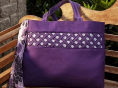Lattice Embellished Tote