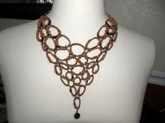 Leather bib necklace!