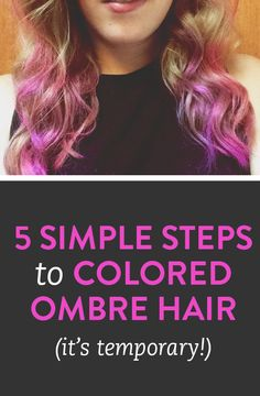 5 simple steps for chalking your hair