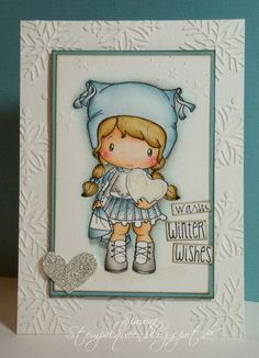 Love the coloring and layout - CC Designs Birgitta's Snow Heart - bjl