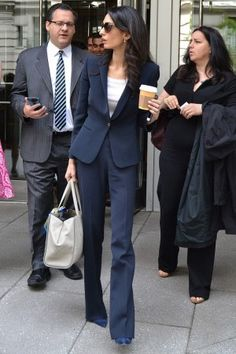 Amal Clooney wearing Prada Havana Sunglasses, Jimmy Choo Agnes Navy Pumps, Dolce & Gabbana Lemon Printed Silk Satin Square Scarf and Giorgio Armani Resort 2015 Purse