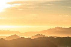 sunrise, mountains, landscapes