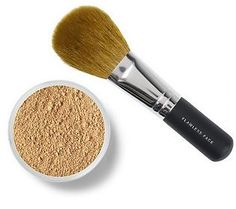 I've used this for 10 years. The naturally occurring sun block in it is the only one i can use. It heals the occasional pimple too. (t) bareMinerals SPF 15 Foundation w Flawless Face Brush - QVC.com