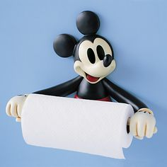Mickey Mouse Paper Towel Holder | even if something spills in the kitchen mickey will always remaind you to smile :)