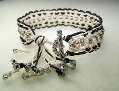 Macrame Jewelry Macrame Bracelet Friendship by BikerBlingCa, $25.00