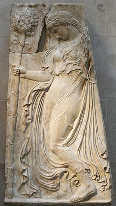Dancing Maenad, Roman relief (marble), copy after Greek original, 1st century BC - 1st century AD, (original 5th c. BC), (Metropolitan Museum of Art, New York).