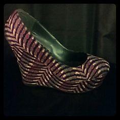 Multi- Colored Wedge Heels Wedges Platform Madden Girl Shoes Wedges