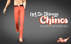 Simsational Designs: Not So Skinny Chinos - New Bottoms for YA-Adult Guys