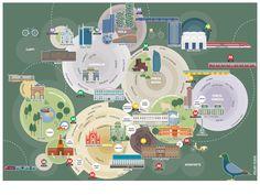 Neighborhood concentric circles, circles of influence, overlapping  Milan map | studio Slash | Art Direction | Graphic Design ...