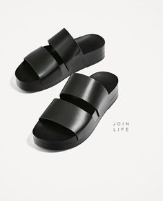 2b135bca88b Image 4 of JOIN LIFE STRAPPY SLIDES from Zara Size 9 Shoes