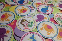 Under the Sea Mermaid Birthday Theme Confetti by PartyCelebrations, $7.00