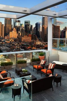 The Press Lounge has been called one of the best rooftop bars in the city by The New York Times and New York magazine #Jetsetter Ink48, a Kimpton Hotel (New York City, New York)