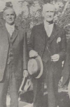 Jesse Edwards James, left.  Son of Jesse James.