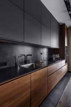53 Favorite Modern Kitchen Design Ideas To Inspire. When it comes to designing the modern kitchen, people typically take one of two design paths. The first path uses modern art as inspiration to creat. Modern Kitchen Interiors, Interior Modern, Home Decor Kitchen, Interior Design Kitchen, New Kitchen, Kitchen Ideas, Kitchen Modern, Awesome Kitchen, Rustic Kitchen