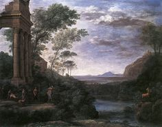 Claude Lorrain. The idealised landscapes of Lorrain and Poussin, painted in the 17th century, were to have an enormous influence on the English style of gardening, which moved away from the formal style during the 18th century.