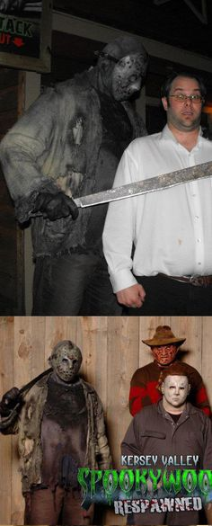 """Jason Voorhees (Friday the """"Freddy vs. - Final effect. Scary Movies, Horror Movies, Halloween Crafts, Halloween Costumes, Horror Costume, Jason Voorhees, Friday The 13th, Just Kidding, Weird Facts"""